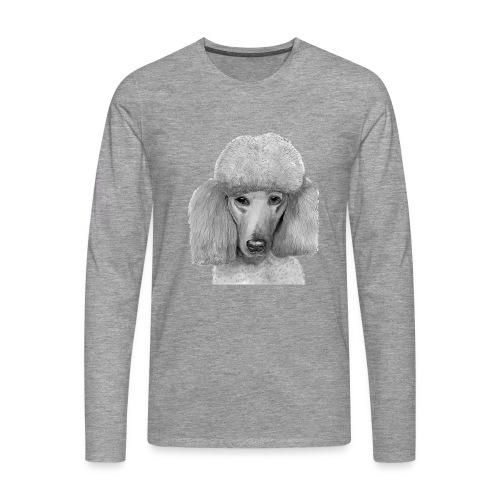 storpudel abrikos - Herre premium T-shirt med lange ærmer