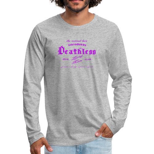 deathless living team violet - Männer Premium Langarmshirt
