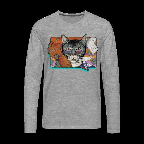 Crime Cat - Koszulka męska Premium z długim rękawem