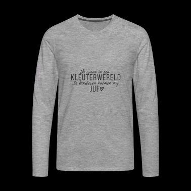 kleuterwereld-ontwerpgroot - Mannen Premium shirt met lange mouwen