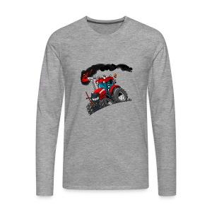 RED TRACTOR - Mannen Premium shirt met lange mouwen