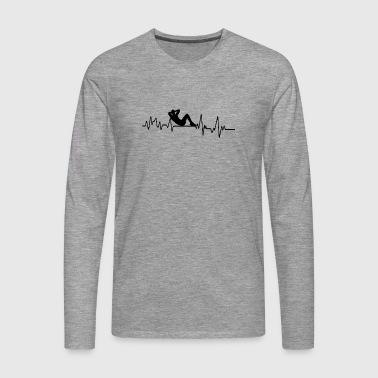 Heartbeat sportowy T-shirt prezent fitness Sport - Koszulka męska Premium z długim rękawem