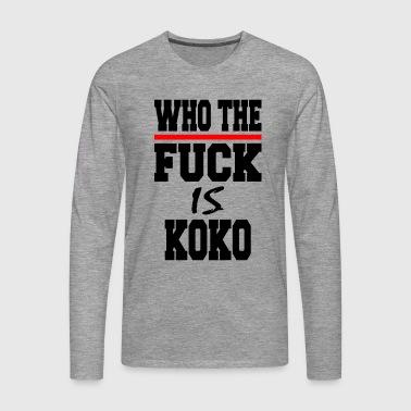 WTF_KOKO - Koszulka męska Premium z długim rękawem