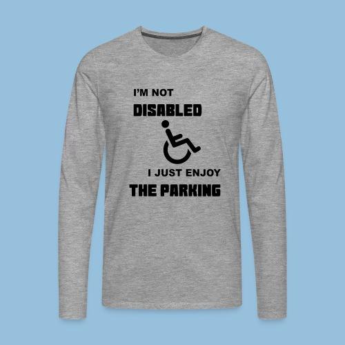 notdisabled1 - Mannen Premium shirt met lange mouwen