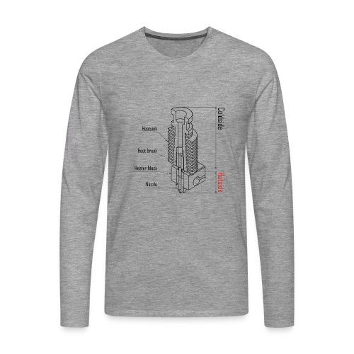 Hotend anatomy (no text). - Men's Premium Longsleeve Shirt