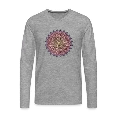 Mandala Sonnenuntergang - Männer Premium Langarmshirt