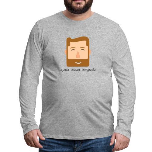 jesus loves myselfie - Männer Premium Langarmshirt