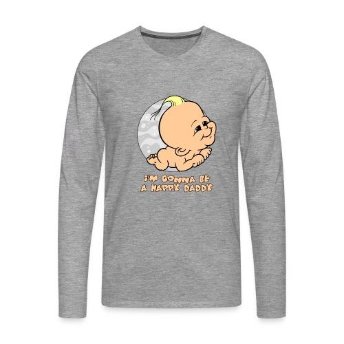 im gonna be a happy daddy - Mannen Premium shirt met lange mouwen