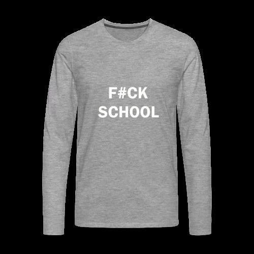 School Collection - Premium langermet T-skjorte for menn
