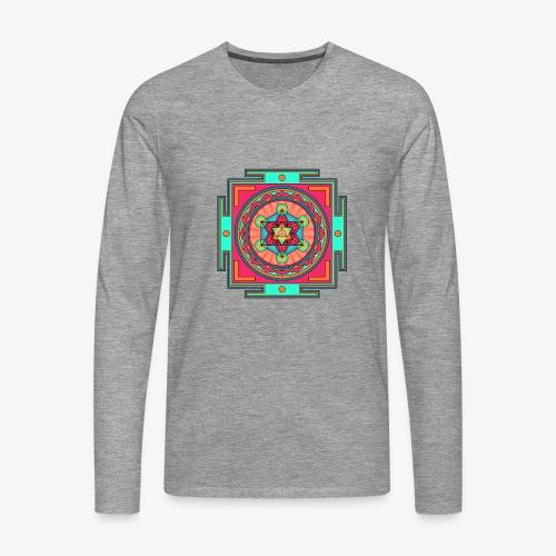 Mandala- Merkaba - Långärmad premium-T-shirt herr
