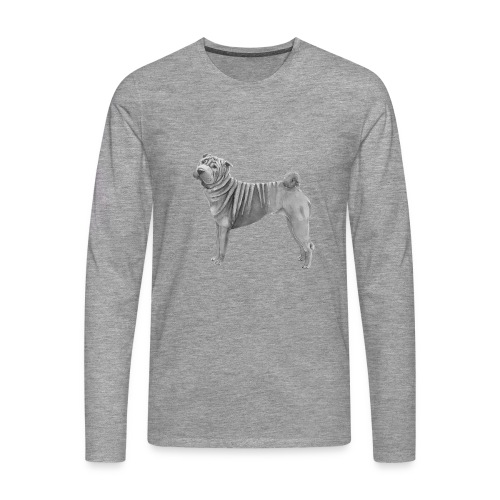 shar pei - Herre premium T-shirt med lange ærmer