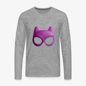 Bat Mask - Koszulka męska Premium z długim rękawem
