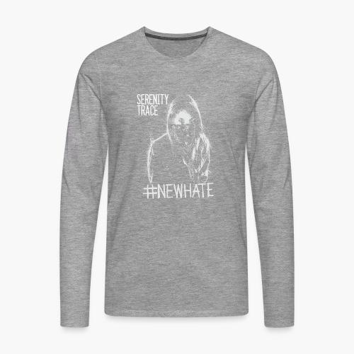 #NewHate Female - Premium langermet T-skjorte for menn