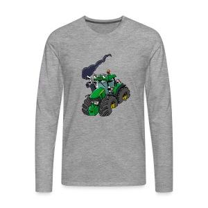 GREEN TRACTOR - Mannen Premium shirt met lange mouwen