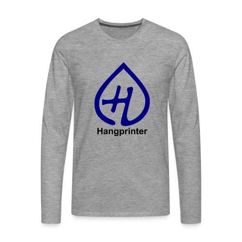 Hangprinter logo and text - Långärmad premium-T-shirt herr