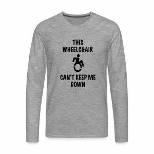 Cantkeepme - Mannen Premium shirt met lange mouwen
