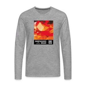 Camouflage Orange Blast – Muskoka Collection 1708 - Männer Premium Langarmshirt