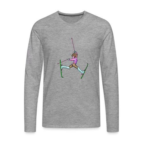 Hot Dogger - Miesten premium pitkähihainen t-paita