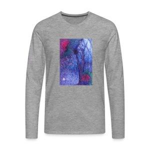 Forest Flower - Koszulka męska Premium z długim rękawem