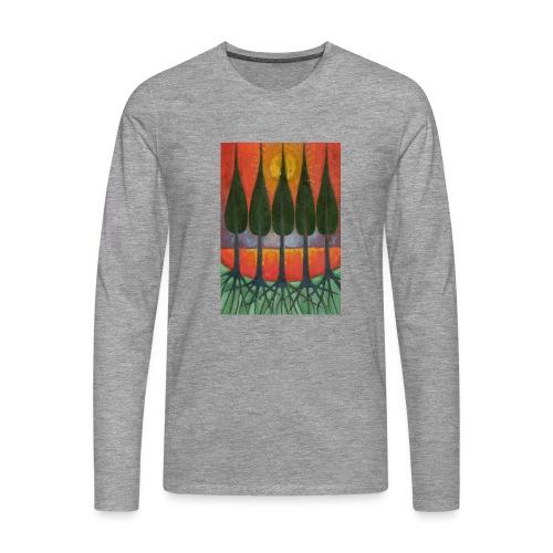 Czerwony Zachód Słońca - Koszulka męska Premium z długim rękawem