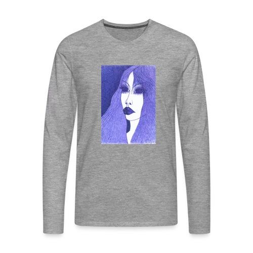 Blue - Koszulka męska Premium z długim rękawem