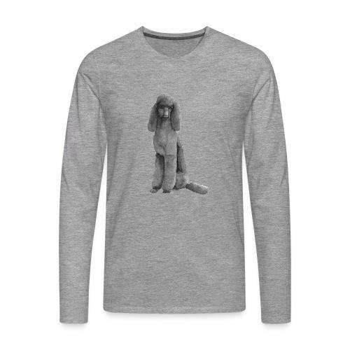poodle standard black / kongepuddel sort - Herre premium T-shirt med lange ærmer