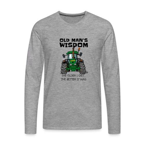 0169 oldmanswisdom JD4050 - Mannen Premium shirt met lange mouwen