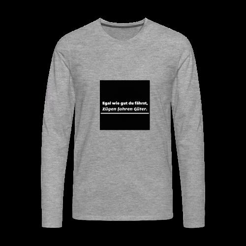 T-Shirt - Mannen Premium shirt met lange mouwen