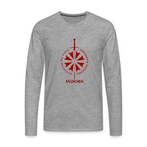 T shirt front M - Männer Premium Langarmshirt
