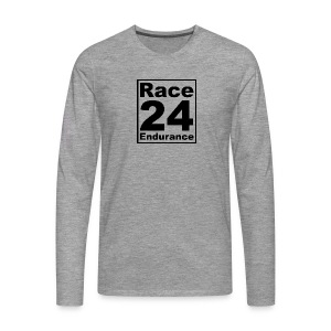 Race24 logo in black - Men's Premium Longsleeve Shirt
