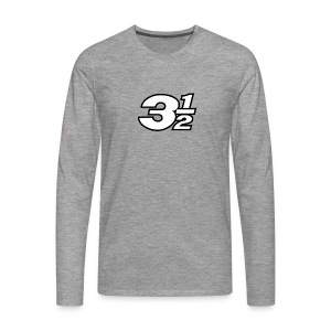 Three and a Half Logo - Men's Premium Longsleeve Shirt