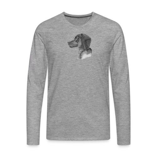 fieldTrialSpaniel - Herre premium T-shirt med lange ærmer