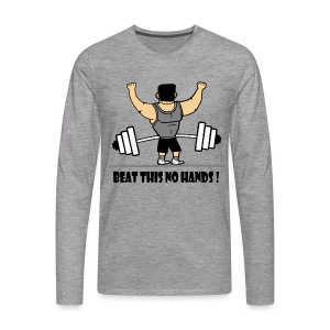 BEAT THIS NO HANDS ! - Men's Premium Longsleeve Shirt