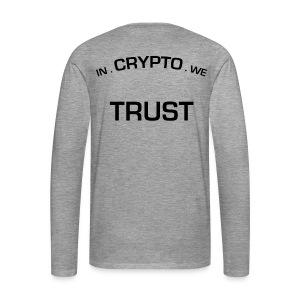 In Crypto we trust - Mannen Premium shirt met lange mouwen