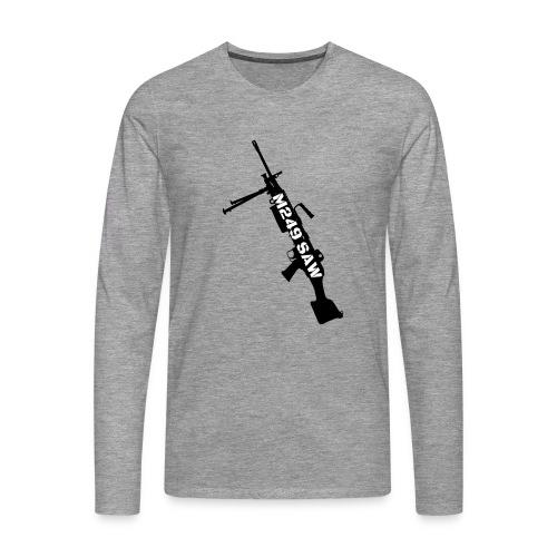 M249 SAW light machinegun design - Mannen Premium shirt met lange mouwen