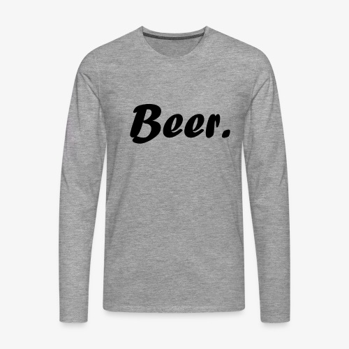 Simple Beer. - Mannen Premium shirt met lange mouwen