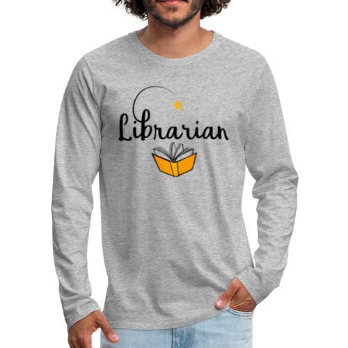 0326 Librarian & Librarian - Men's Premium Longsleeve Shirt