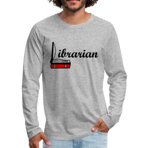 0324 Librarian Librarian Library Book - Men's Premium Longsleeve Shirt