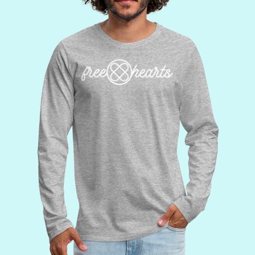 freehearts white logo - Männer Premium Langarmshirt