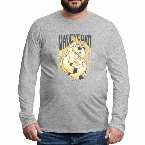 Daddycorn - Einhörner für echte Papas - Männer Premium Langarmshirt