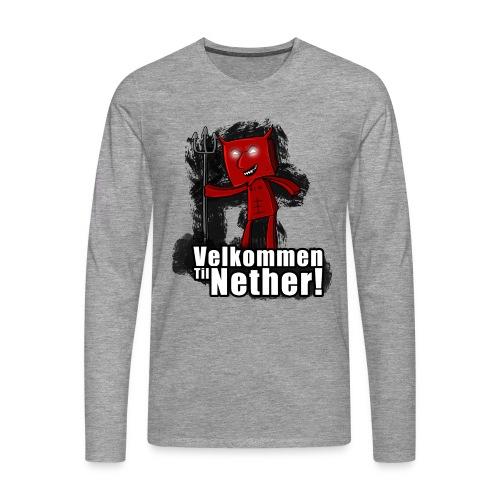 velkommen til nether 1 png - Premium langermet T-skjorte for menn