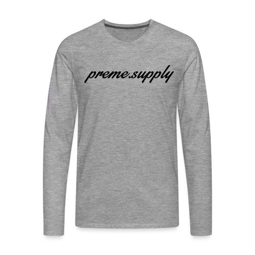 orginal preme logo black png - Men's Premium Longsleeve Shirt