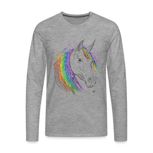 Unicorno - Maglietta Premium a manica lunga da uomo