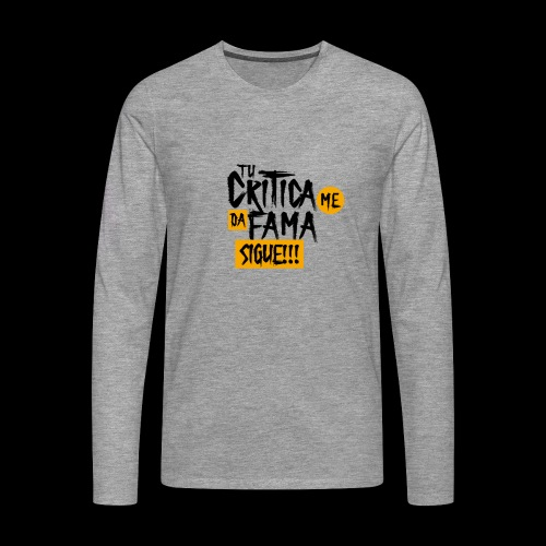 CRITICA - Camiseta de manga larga premium hombre