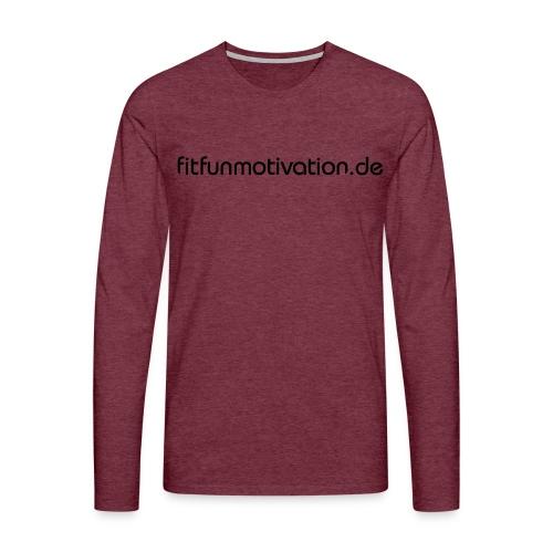 ffm schriftzug - Männer Premium Langarmshirt