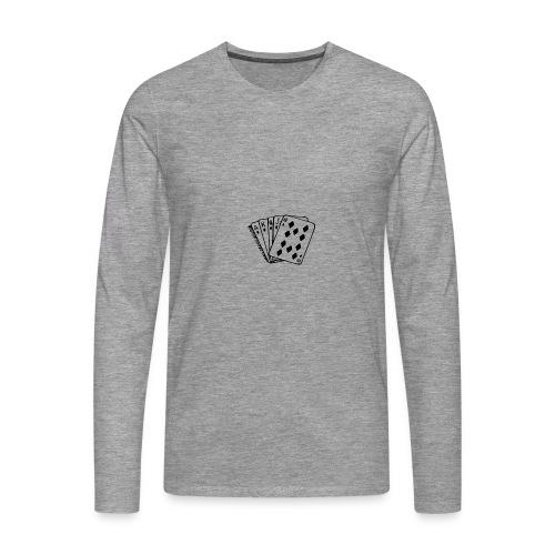 Royal Flush - Männer Premium Langarmshirt