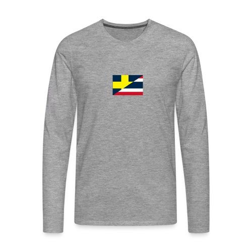 Sverige Thailand - Långärmad premium-T-shirt herr