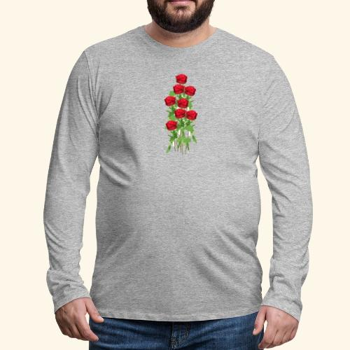 rote rosen - Männer Premium Langarmshirt