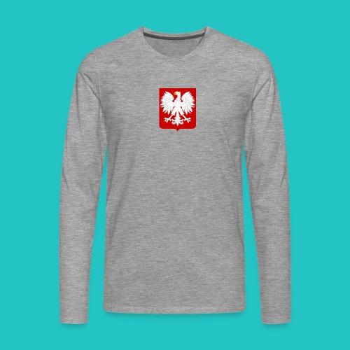 Koszulka z godłem Polski - Koszulka męska Premium z długim rękawem