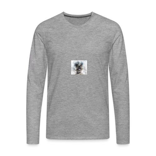dog hund - Männer Premium Langarmshirt